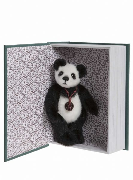 Library Book Green. Snuggleability by Charlie Bears.